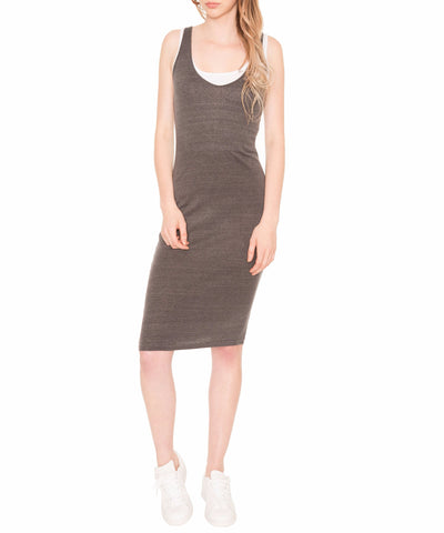 Double Layer Rib Tank Dress