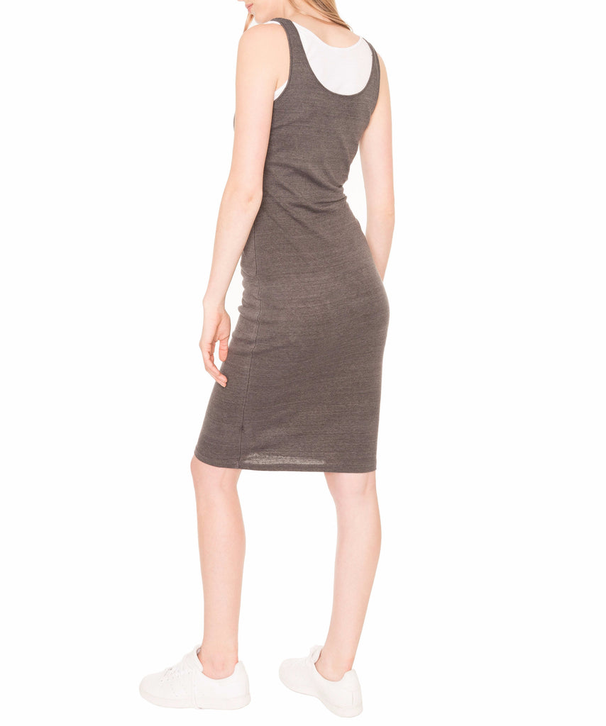 Monrow Double Layer Rib Tank Dress