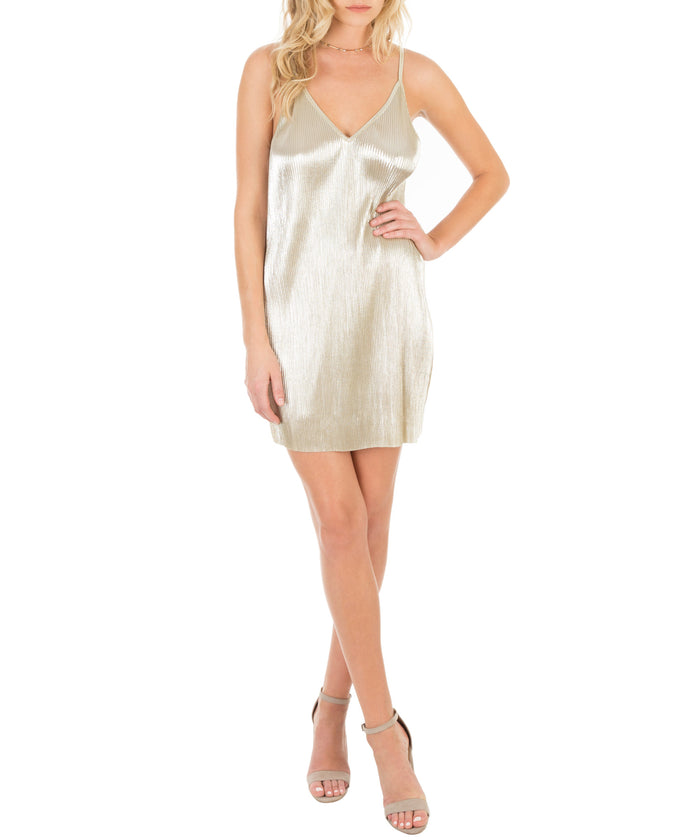 Pleated Lurex Cami Dress