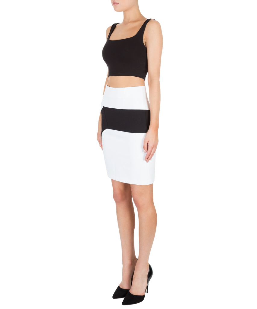 Kendall + Kylie Color Block Pencil Skirt