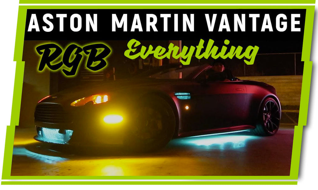 TONS of LEDs - Aston Martin Vantage Custom Tail Lights and Headlights
