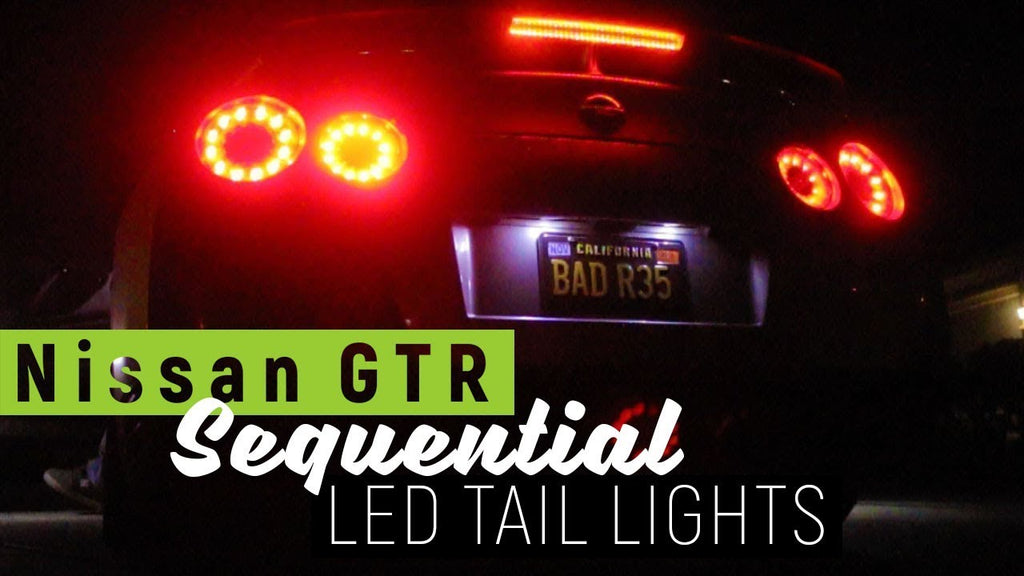Our first Nissan GTR at the new shop! Sequential LED taillights.