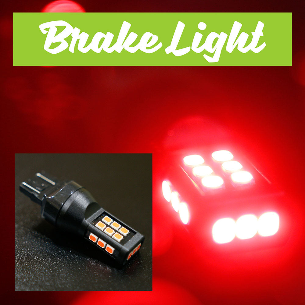 Red LED Brake Light Bulbs (1 pair)