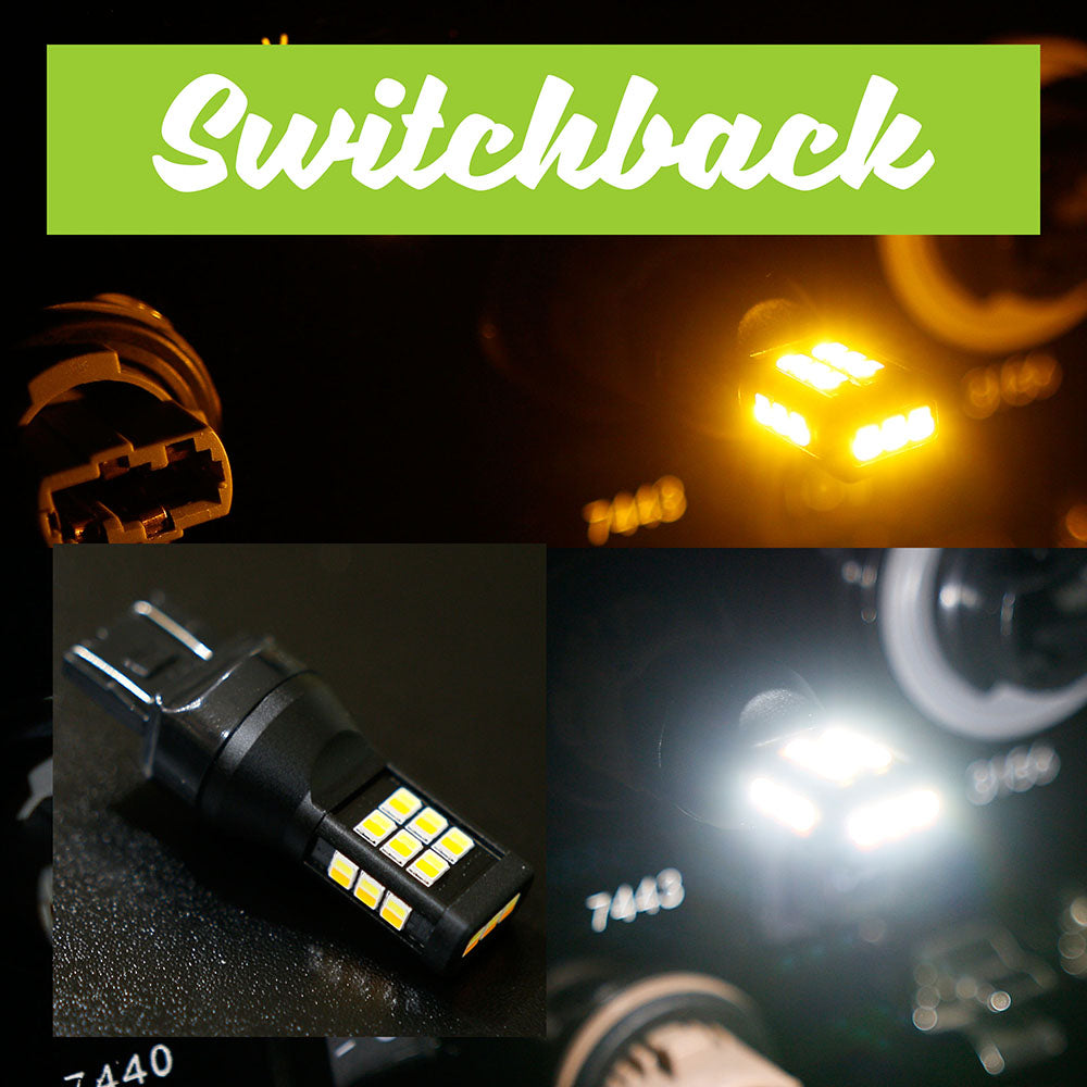 7443 SB (Switchback) White / Amber