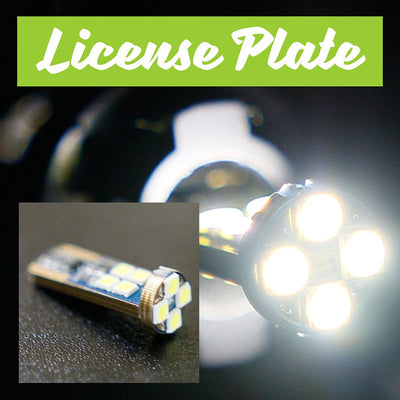 2007 LEXUS ES350 w/Composite LED License Plate Bulbs