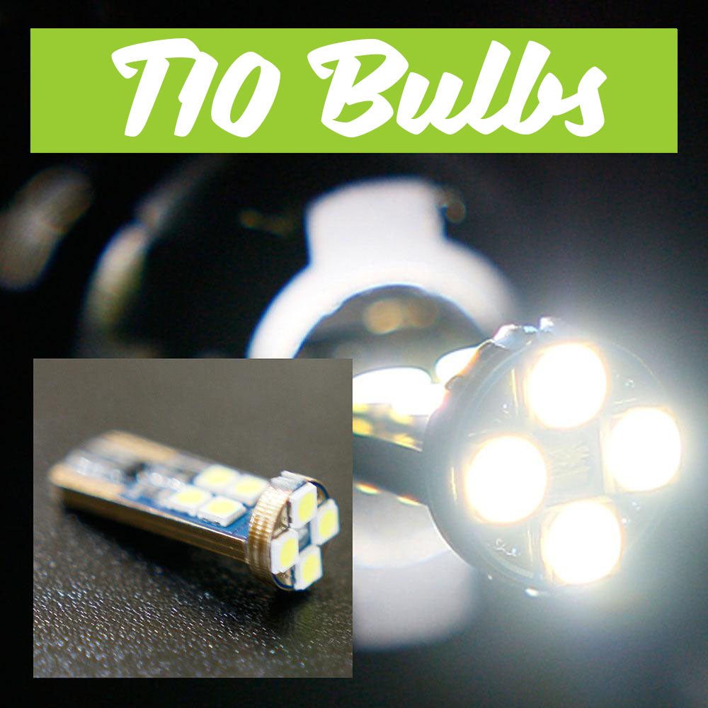 T10 White LED Bulbs (1 pair)