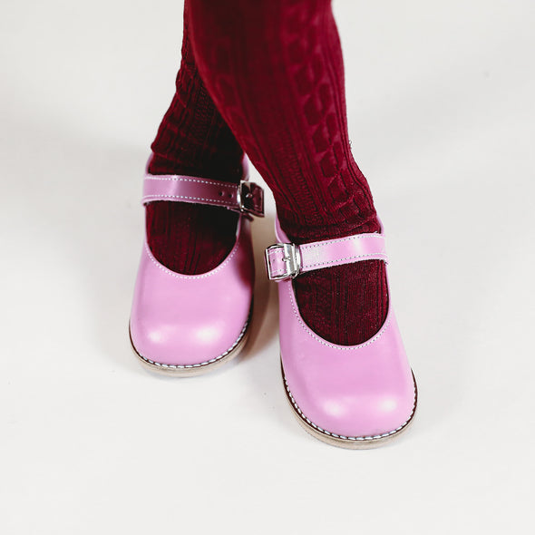 the hard soled mary jane: mauve