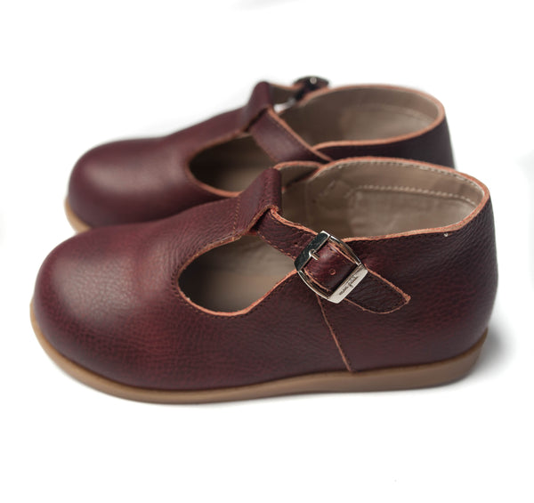 the hard-soled t-strap: black cherry