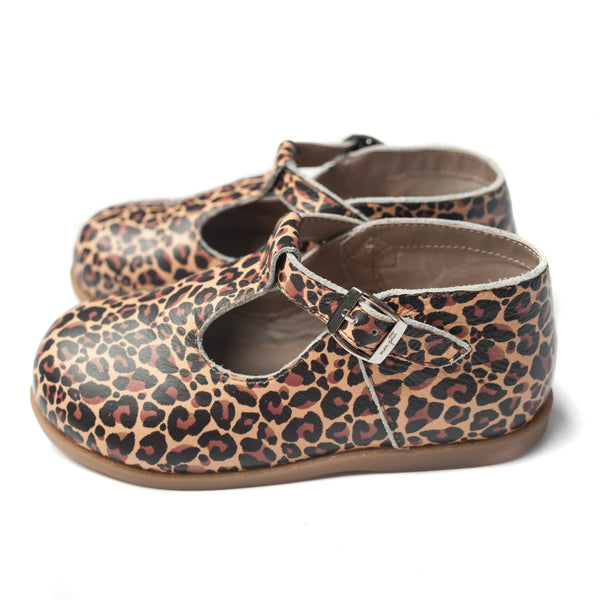 the hard-soled t-strap: leopard