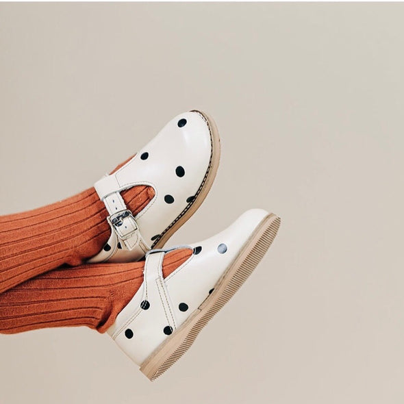 the hard soled t-strap: dot