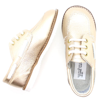 the boat shoe: white gold