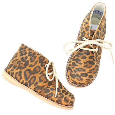 the hard soled oxford: leopard suede