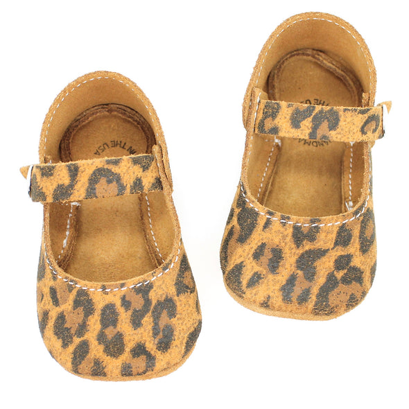 the mary jane: leopard suede