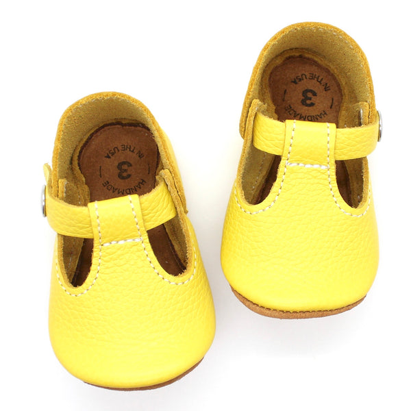 the original soft-soled t-strap: canary (RTS)