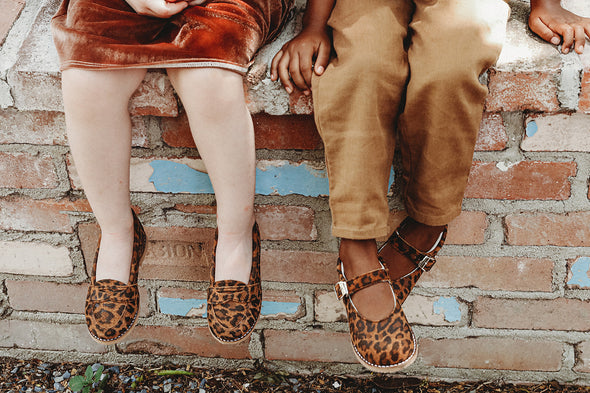 the loafer: leopard suede