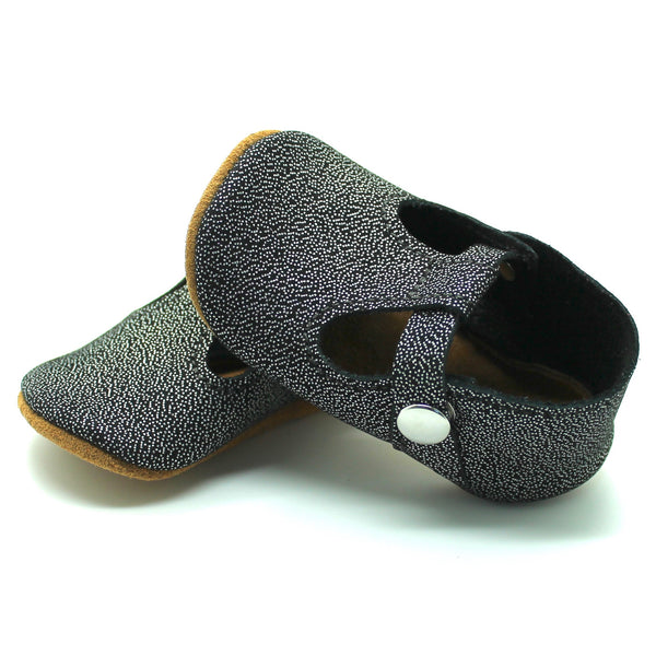 the original soft-soled t-strap: stardust (RTS)