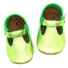 the original soft-soled t-strap: peridot/tinkerbell green (RTS)