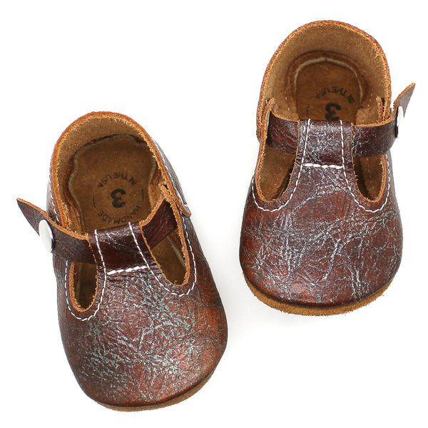 the original soft-soled t-strap: patina (RTS)