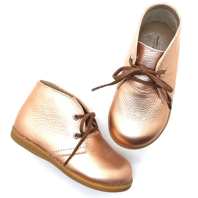 the hard soled oxford: blush gold