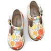 the hard soled t-strap: poppy floral