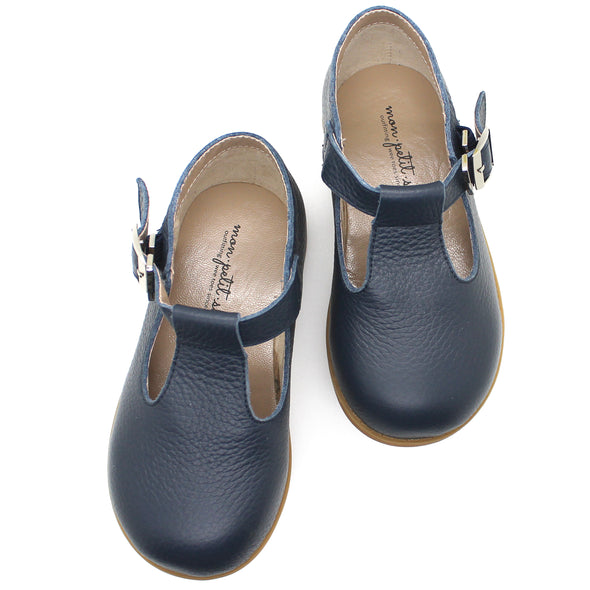 the hard soled t-strap: navy