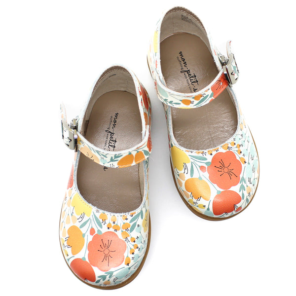 the hard soled mary jane: poppy floral