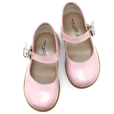 the hard soled mary jane: patent blush