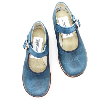 the hard soled mary jane: indigo