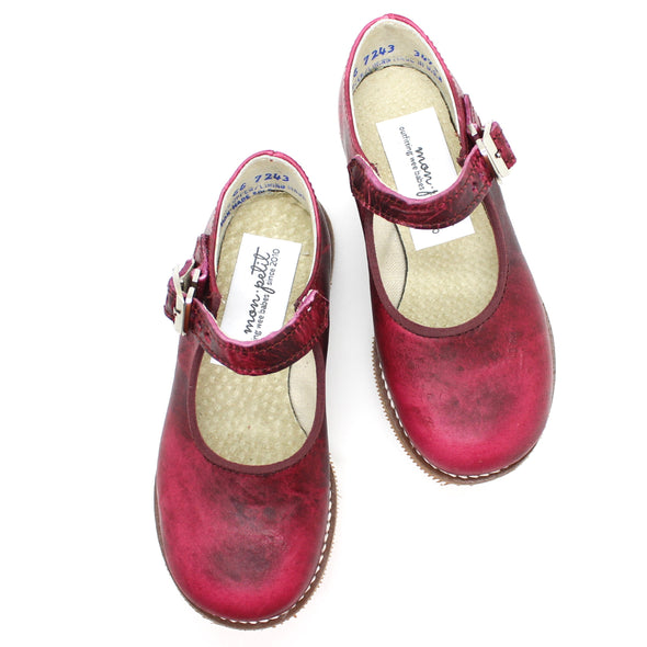 the hard soled mary jane: merlot