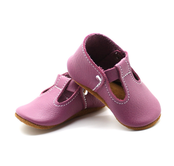 the original soft-soled t-strap: lilac (RTS)