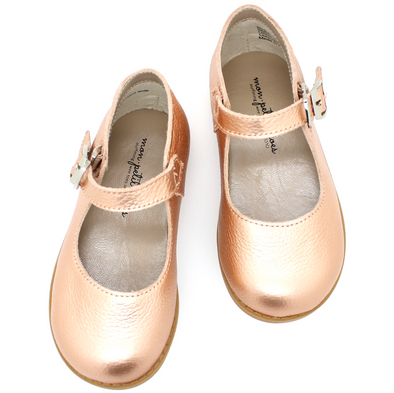 the hard soled mary jane: blush gold
