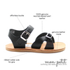 cape cod sandal: black
