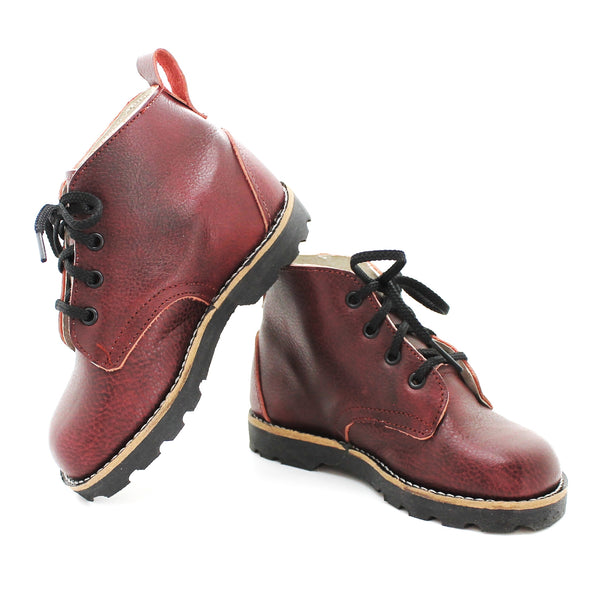 the high top boot: black cherry