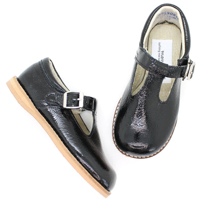 the hard soled t-strap: black patent