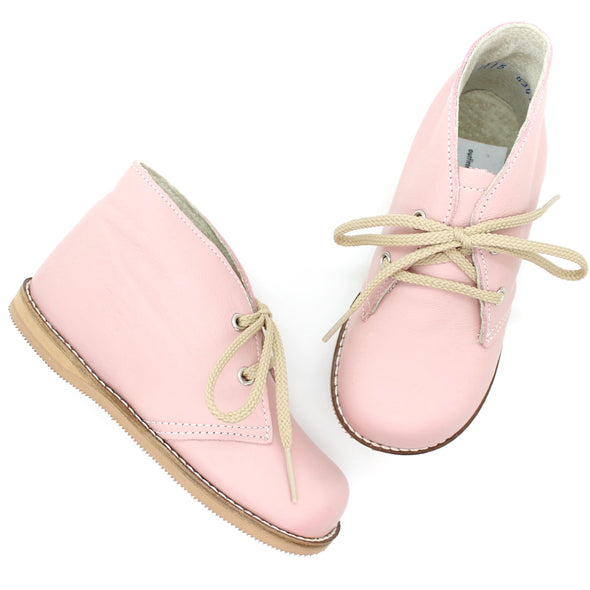 the hard soled oxford: blush