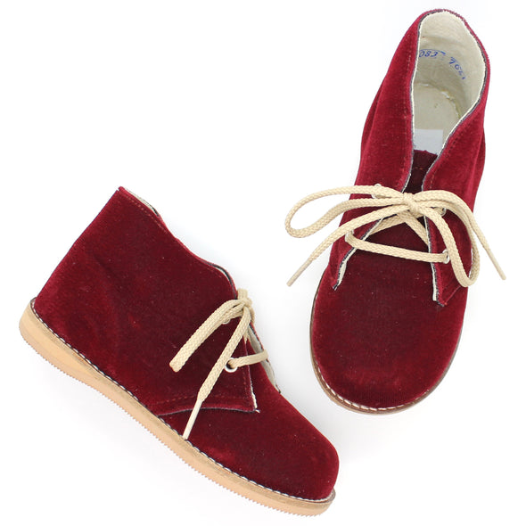 the hard soled oxford: cranberry velvet