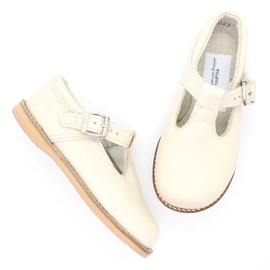 the hard soled t-strap: ivory