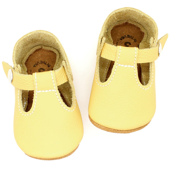 the original soft-soled t-strap: mellow yellow (RTS)