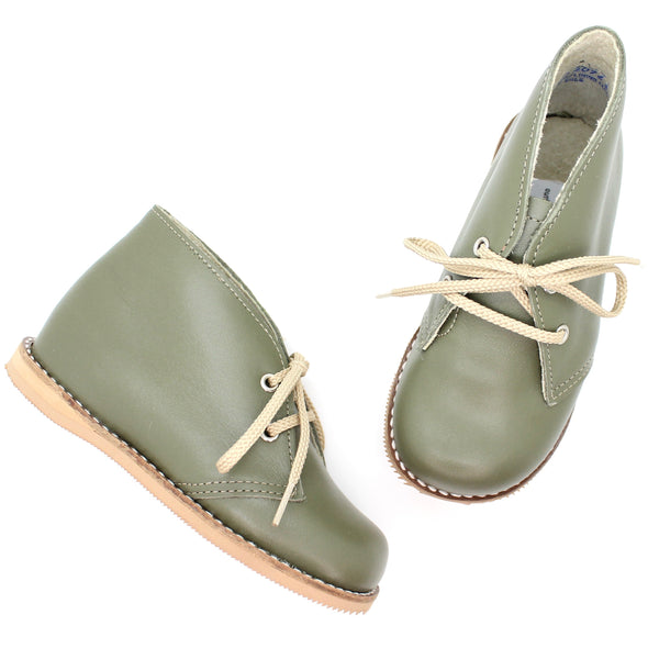 the hard soled oxford: military green