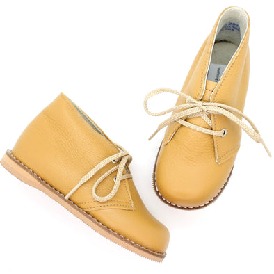 the hard soled oxford: mustard