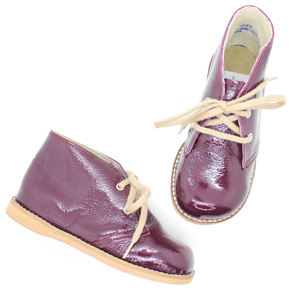 the hard soled oxford: patent plum
