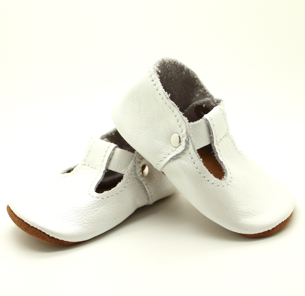 the original soft-soled t-strap: pearl (RTS)