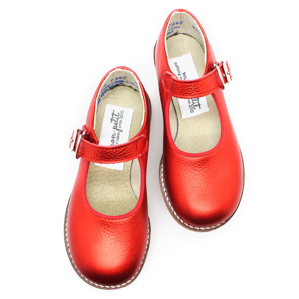 the hard soled mary jane: ruby red