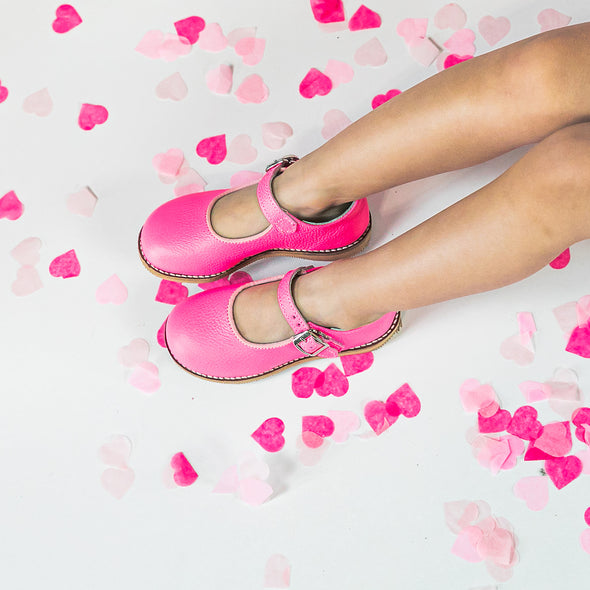 the hard soled mary jane: shocking pink