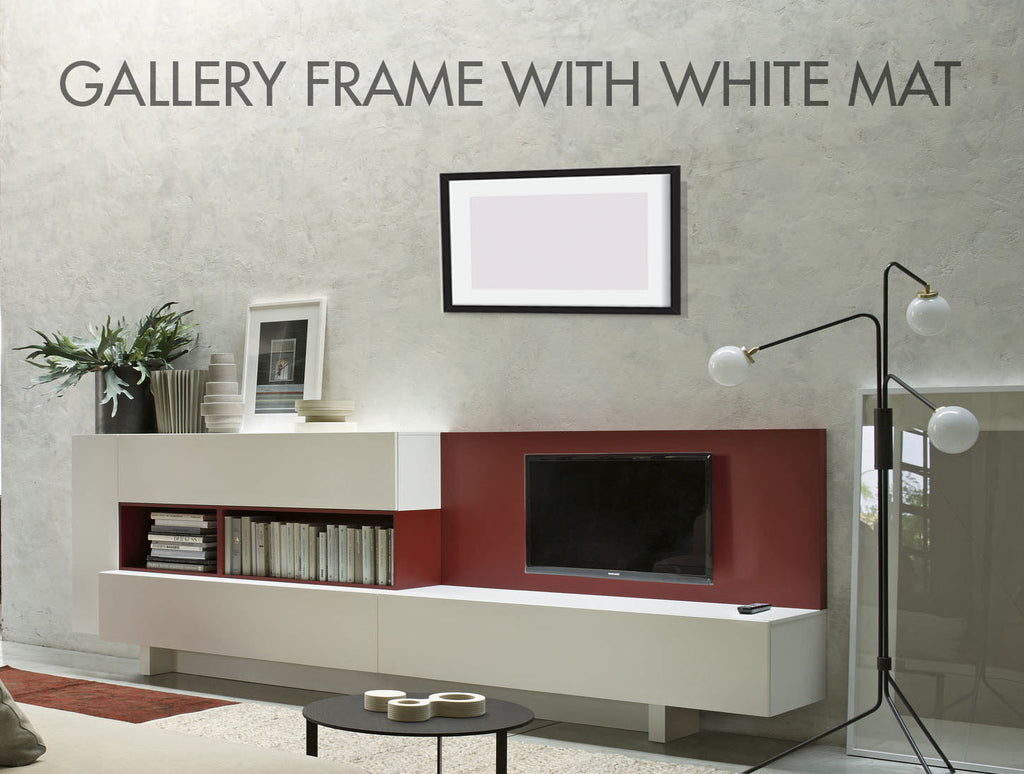 Gallery Frame with Mat on Wall