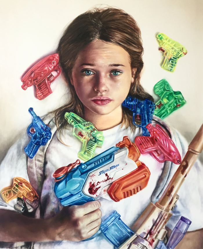 Toy Guns Giclée Print
