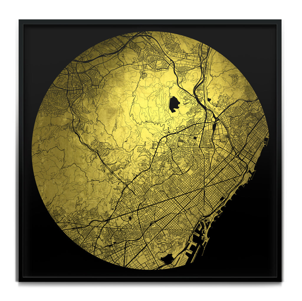 Mappa Mundi Barcelona Downtown (24 Karat Gold)