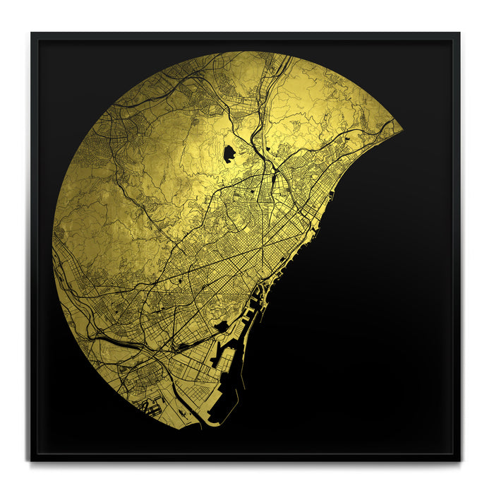Mappa Mundi Barcelona (Greater) (24 Karat Gold)