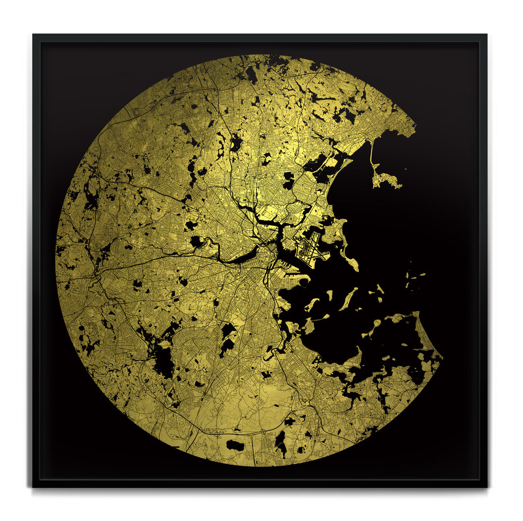 Mappa Mundi Boston (Greater) (24 Karat Gold)