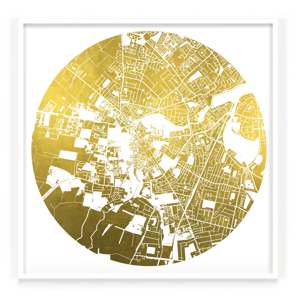 Mappa Mundi Cambridge (24 Karat Gold)